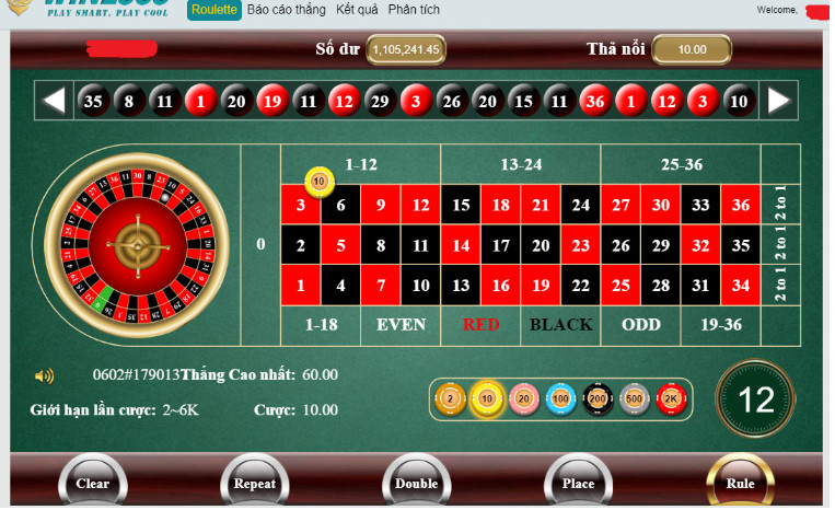 giao dien choi Roulette tinycat99